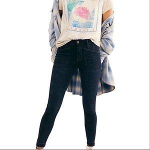 Free People Ivy Jeans Dark Blue Skinny New 29